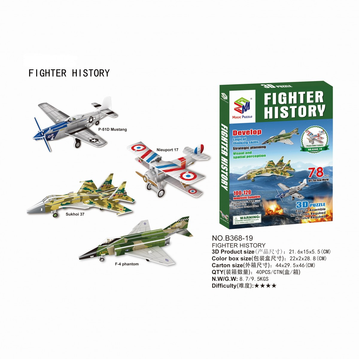 戦闘機シリーズ 3Dパズル イメージ