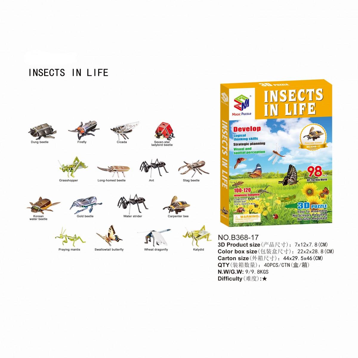 昆虫シリーズ 3Dパズル イメージ
